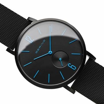 BERING Unisex Analog Quartz Uhr mit Silikon Armband 16940-499 - 3