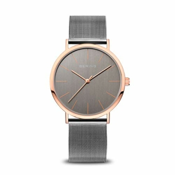 Bering Unisex Analog Quarz Uhr mit Edelstahl Armband 13436-369 - 1