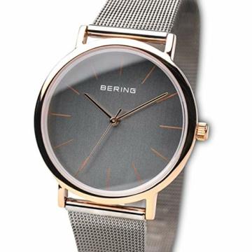 Bering Unisex Analog Quarz Uhr mit Edelstahl Armband 13436-369 - 2