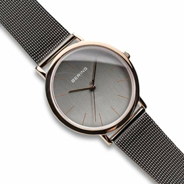 Bering Unisex Analog Quarz Uhr mit Edelstahl Armband 13436-369 - 3