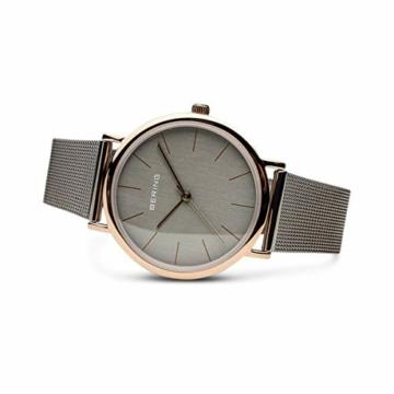 Bering Unisex Analog Quarz Uhr mit Edelstahl Armband 13436-369 - 4