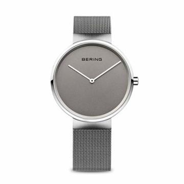 Bering Unisex Analog Quarz Uhr mit Edelstahl Armband 14539-077 - 1