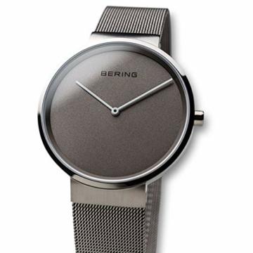 Bering Unisex Analog Quarz Uhr mit Edelstahl Armband 14539-077 - 2