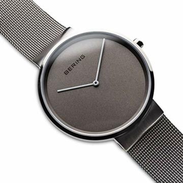 Bering Unisex Analog Quarz Uhr mit Edelstahl Armband 14539-077 - 3
