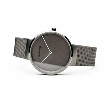 Bering Unisex Analog Quarz Uhr mit Edelstahl Armband 14539-077 - 4