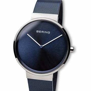 BERING Unisex Analog Quarz Uhr mit Edelstahl Armband 14539-307 - 2