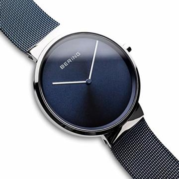 BERING Unisex Analog Quarz Uhr mit Edelstahl Armband 14539-307 - 3