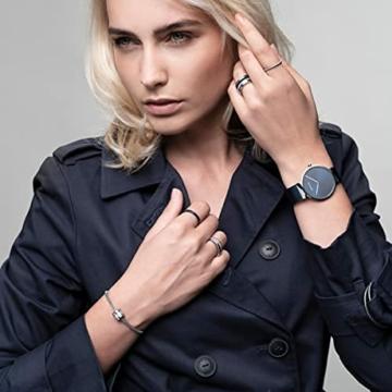 BERING Unisex Analog Quarz Uhr mit Edelstahl Armband 14539-307 - 5