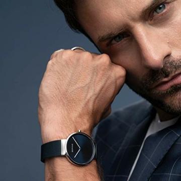 BERING Unisex Analog Quarz Uhr mit Edelstahl Armband 14539-307 - 8