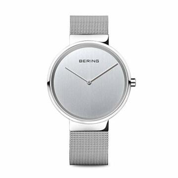 BERING Unisex-Armbanduhr Analog Quarz Uhr mit Edelstahl Armband 14539-000 - 1
