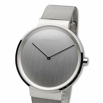 BERING Unisex-Armbanduhr Analog Quarz Uhr mit Edelstahl Armband 14539-000 - 2