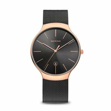 Bering Unisex Erwachsene Analog Quarz Uhr mit Edelstahl Armband 13338-262 - 1