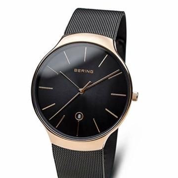 Bering Unisex Erwachsene Analog Quarz Uhr mit Edelstahl Armband 13338-262 - 2