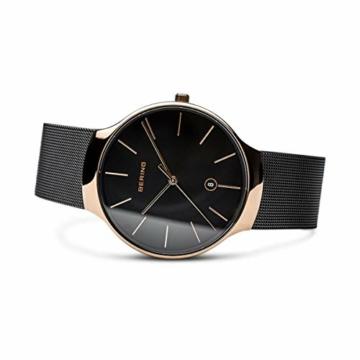 Bering Unisex Erwachsene Analog Quarz Uhr mit Edelstahl Armband 13338-262 - 4