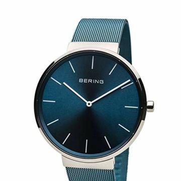 BERING Unisex Erwachsene Analog Quarz Uhr mit Edelstahl Armband 16540-308 - 2