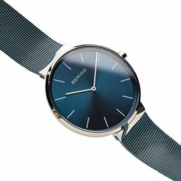 BERING Unisex Erwachsene Analog Quarz Uhr mit Edelstahl Armband 16540-308 - 3