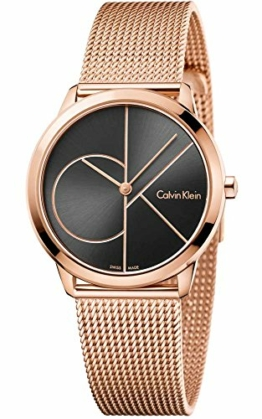 Calvin Klein Damen Analog Quarz Uhr mit Edelstahl Armband K3M22621 - 1