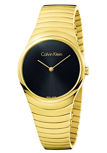 Calvin Klein Damen Analog Quarz Uhr mit Edelstahl Armband K8A23541 - 1