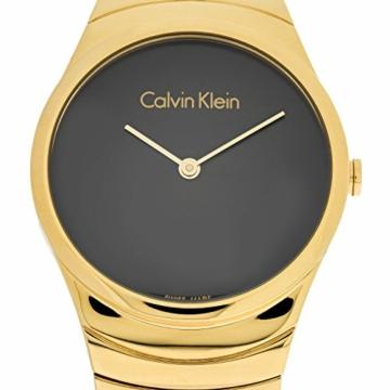 Calvin Klein Damen Analog Quarz Uhr mit Edelstahl Armband K8A23541 - 4