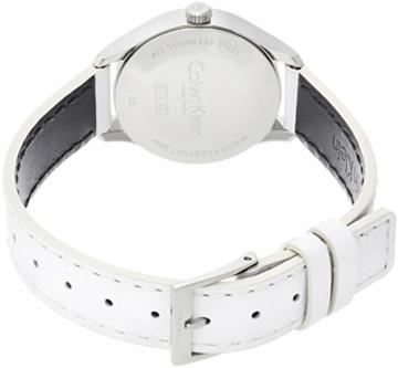 Calvin Klein Damen Analog Quarz Uhr mit Leder Armband K7V231L6 - 2
