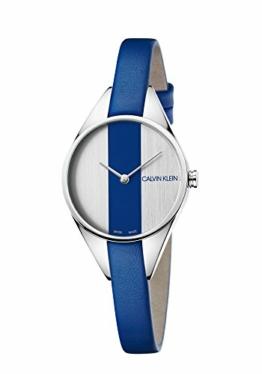 Calvin Klein Damen Analog Quarz Uhr mit Leder Armband K8P231V6 - 1