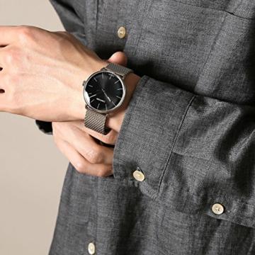 Calvin Klein Herren Analog Quarz Uhr mit Edelstahl Armband K8M21121 - 7
