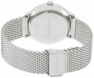 Calvin Klein Unisex Erwachsene Analog-Digital Quarz Uhr mit Edelstahl Armband K8M2112N - 2