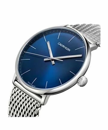 Calvin Klein Unisex Erwachsene Analog-Digital Quarz Uhr mit Edelstahl Armband K8M2112N - 4
