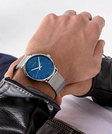 Calvin Klein Unisex Erwachsene Analog-Digital Quarz Uhr mit Edelstahl Armband K8M2112N - 7