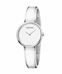 Calvin Klein Unisex Erwachsene Analog Quarz Uhr mit Edelstahl Armband K4E2N116 - 1