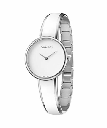 Calvin Klein Unisex Erwachsene Analog Quarz Uhr mit Edelstahl Armband K4E2N116 - 2