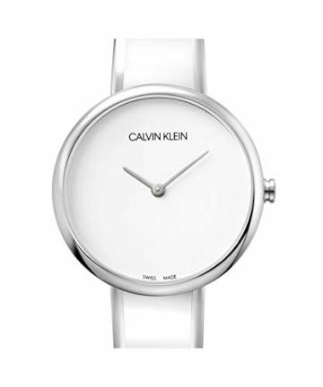 Calvin Klein Unisex Erwachsene Analog Quarz Uhr mit Edelstahl Armband K4E2N116 - 4