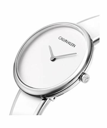 Calvin Klein Unisex Erwachsene Analog Quarz Uhr mit Edelstahl Armband K4E2N116 - 5