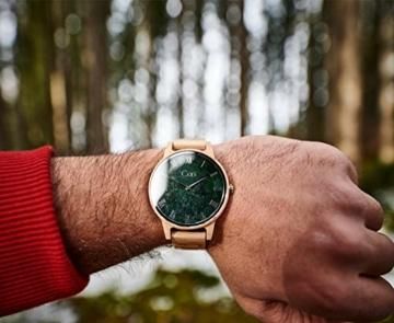 Cari Damen & Herren Holzuhr mit Schweizer Uhrwerk - Holz-Armbanduhr Dublin-111 (Ahornholz beige) - 3