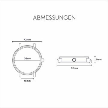 Cari Damen & Herren Holzuhr mit Schweizer Uhrwerk - Holz-Armbanduhr Dublin-111 (Ahornholz beige) - 5