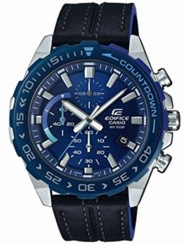 Casio Edifice Herren Chronograph Quarz Armbanduhr EFR-566, Blau - 1