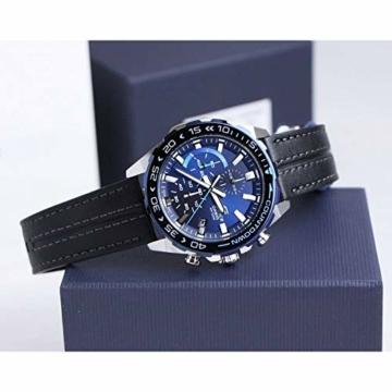 Casio Edifice Herren Chronograph Quarz Armbanduhr EFR-566, Blau - 4