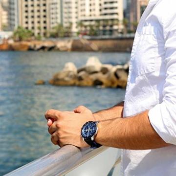 Casio Edifice Herren Chronograph Quarz Armbanduhr EFR-566, Blau - 5