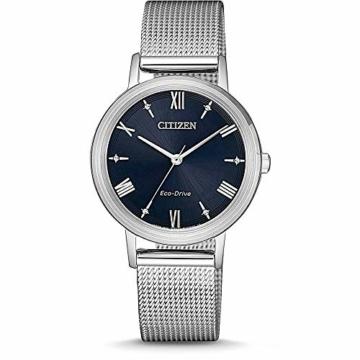CITIZEN Damen Analog Eco-Drive Uhr mit Edelstahl Armband EM0571-83L - 1