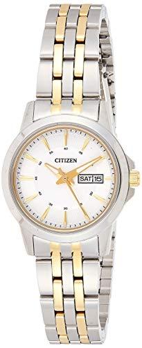 CITIZEN Damen Analog Quarz Uhr mit Edelstahl Armband EQ0608-55AE - 1