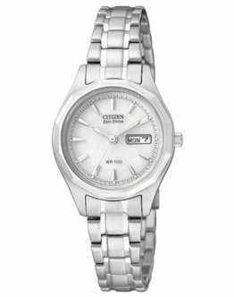 Citizen Damen Analog Quarz Uhr mit Edelstahl Armband EW3140-51AE - 1