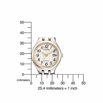 CITIZEN Damen Analog Solar Uhr mit Edelstahl Armband EW2486-87A - 4