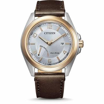 Citizen Herren Analog Eco-Drive Uhr mit Leder Armband AW7056-11A - 1