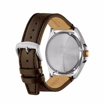 Citizen Herren Analog Eco-Drive Uhr mit Leder Armband AW7056-11A - 3