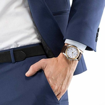 Citizen Herren Analog Eco-Drive Uhr mit Leder Armband AW7056-11A - 4