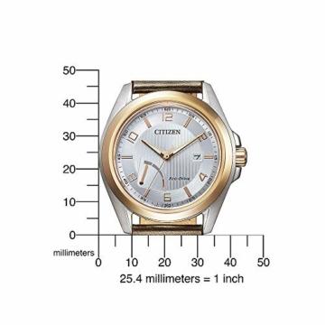 Citizen Herren Analog Eco-Drive Uhr mit Leder Armband AW7056-11A - 5