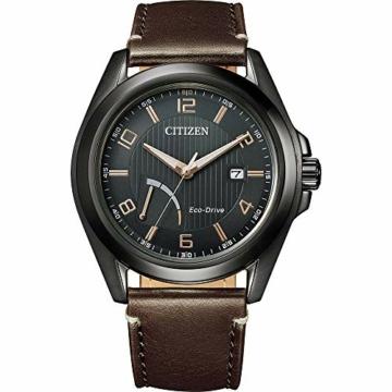 Citizen Herren Analog Eco-Drive Uhr mit Leder Armband AW7057-18H - 1
