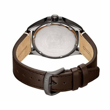 Citizen Herren Analog Eco-Drive Uhr mit Leder Armband AW7057-18H - 2