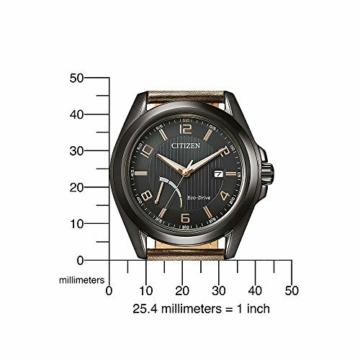 Citizen Herren Analog Eco-Drive Uhr mit Leder Armband AW7057-18H - 5