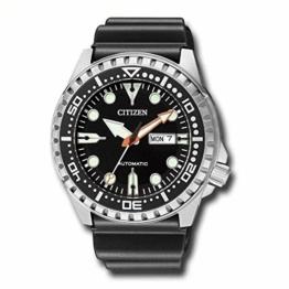 CITIZEN Herren Analog Mechanisch Uhr mit Kunststoff Armband NH8380-15EE - 1